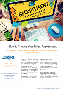 How To Choose Hiring Assessment