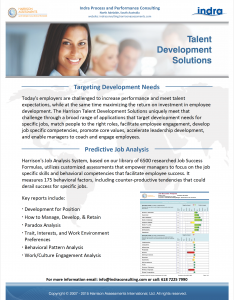 Talent Development Harrison Assessments