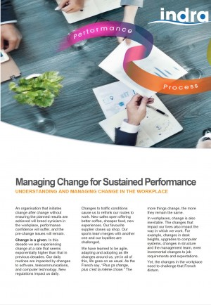 Managing Change for Sustained Performance